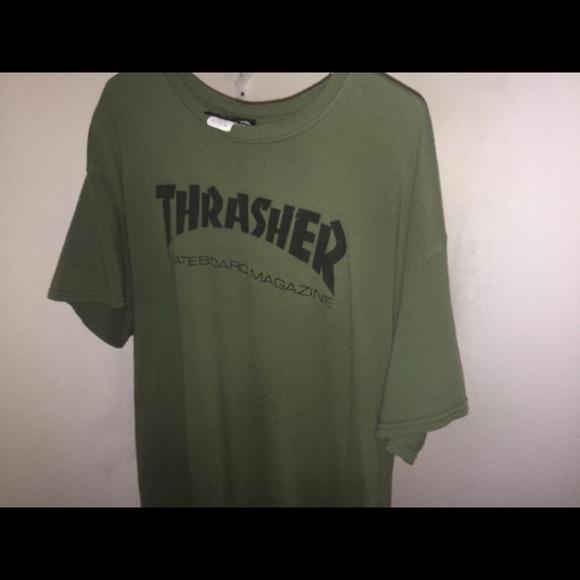 1bf9dc6bdcc7 Thrasher shirt olive green. M_5b6cdf085bbb800c438e4e29
